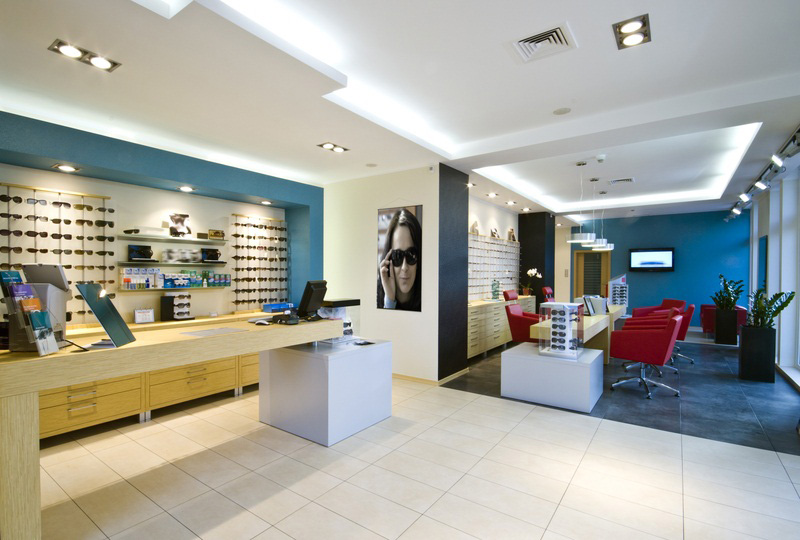 Inside an optical store